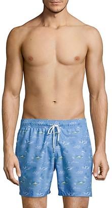 Slate & Stone Tropical-Print Swim Shorts