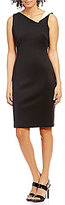 Calvin Klein Folded-Neck Scuba Sheath Dress