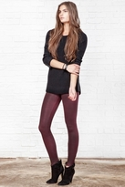 David Lerner Barlow Coated Leggings in Deep Shiraz