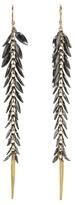 Nunu Dangle Earring (Black/Gold) - Jewelry