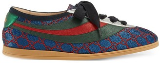 Gucci Falacer lurex GG sneakers with Web