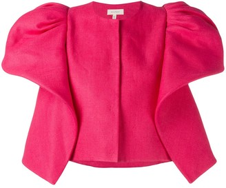 DELPOZO Ruffle-Detail Cropped Jacket