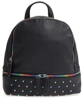 BP Studded Faux Leather Backpack - Black