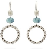 Isabel Marant Crystal And Stone Drop Earrings - Womens - Blue