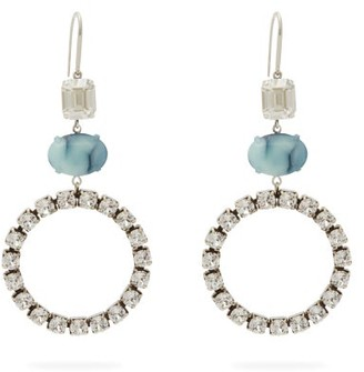 Isabel Marant Crystal And Stone Drop Earrings - Blue
