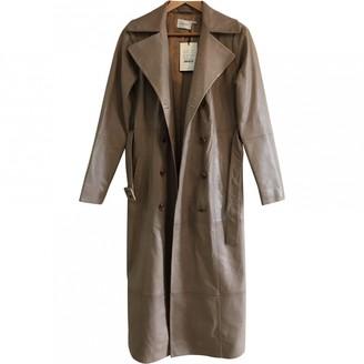 Gestuz Beige Leather Coat for Women