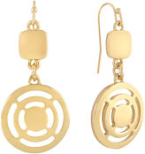 Liz Claiborne Gold-Tone Double Drop Earrings