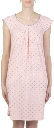 Claudel Sunny Days Butterfly-Print Long Nightgown
