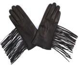 Soia & Kyo Fringe Leather Gloves