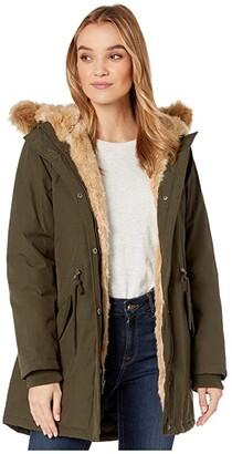 Levi's Arctic Cloth Parka with Hood (Olive) Women's Coat