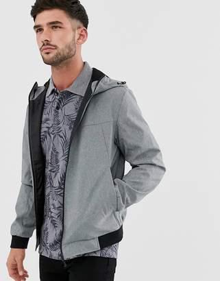 Jack and Jones lightweight jacket with hood-Grey