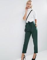Asos Woven Peg Pants with OBI Tie