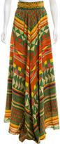 Stella Jean Silk Geometric Print Skirt