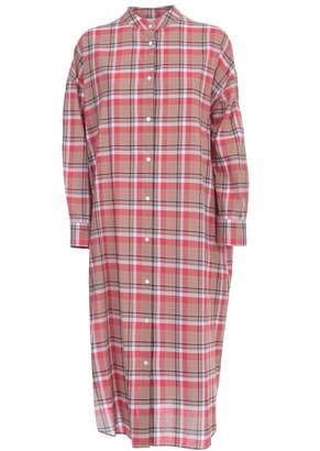 Aspesi Dress L/s Guru Neck Madras