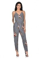 AX Paris Grey Floral Printed Jumpsuit