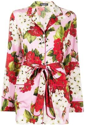 Dolce & Gabbana Floral Pajama Blouse
