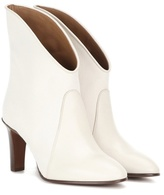 Chloé Kole Canvas And Leather Ankle Boots