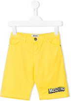Moschino Kids - logo shorts - kids - Cotton/Spandex/Elastane - 4 yrs