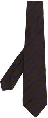 Kiton striped print tie