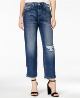 M1858 Frida Ripped Atlantic Wash Wide-Leg Jeans