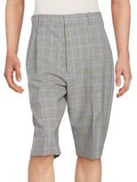 3.1 Phillip Lim Pleated Checked Wool Walking Shorts