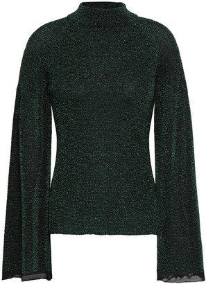 Pringle Metallic Stretch-knit Sweater