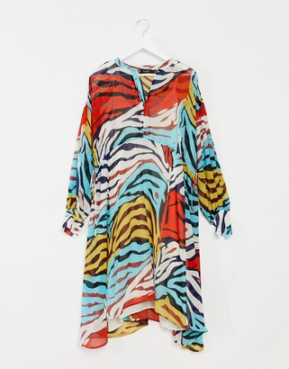 Soaked In Luxury animal print midi dress