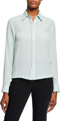 Dries Van Noten Silk Button-Front Blouse