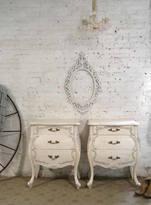 Etsy RESERVE KOREY Painted Cottage Chic Shabby Romantic French Bombay Night Table