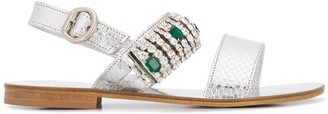Emanuela Caruso Crystal Embellished Sandals