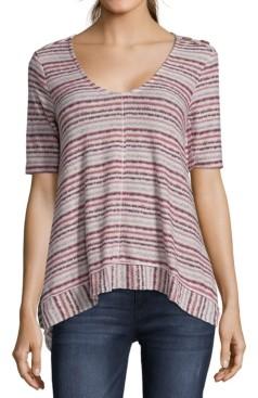 John Paul Richard V-Neck Short-Sleeve Sweater