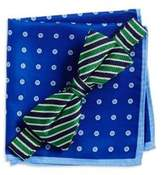 Lord & Taylor Boy's Silk Bow Tie And Pocket Square Set