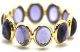 Tresor Collection - Iolite Stackable Ring Bands in 18K Yellow Gold