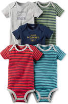 Carter's 5-Pk. Striped Cotton Bodysuits, Baby Boys (0-24 months)