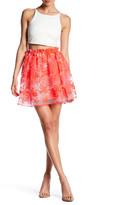 Maje Embroidered Overlay Skirt