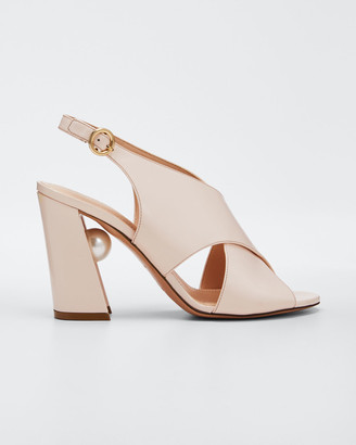Nicholas Kirkwood Miri Crisscross Slingback Sandals