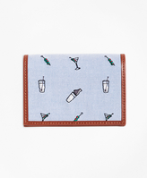 Brooks Brothers Martini Embroidered Card Case