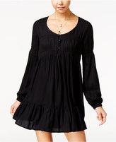 Volcom Juniors' Crochet-Trim Peasant Dress