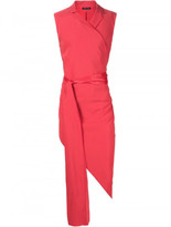 Baja East tie waist asymmetric hem top