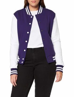 Urban Classics Women's Ladies 2-tone College Sweatjacket Varsity Long Sleeve Sweater Jackets