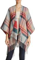 Aqua Reversible Plaid Stripe Ruana - 100% Exclusive
