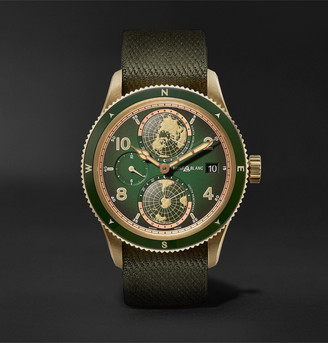 Montblanc 1858 Geosphere Limited Edition Automatic 42mm Bronze And Nato Watch, Ref. No. 119909