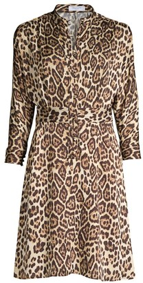 Equipment Adalicia Leopard-Print A-Line Dress