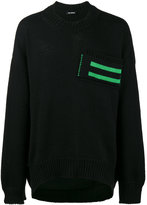 Raf Simons Uni Sweater with Striped Pocket