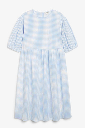 Monki Seersucker maxi dress