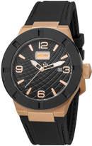 Just Cavalli 43mm Rock Watch w/ Rubber Strap, Black