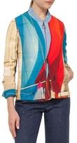 Akris Punto Women's 'Mainsail' Print Crepe Bomber Jacket