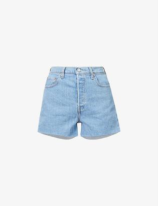 Levi's Ribcage high-rise denim shorts