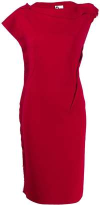 Lanvin Pre-Owned 1990s frayed details fitted dress