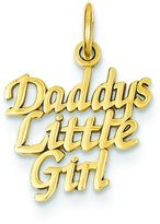 FindingKing 14K Gold Daddys Little Girl Charm Daughter Pendant
